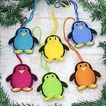 Assorted Wool Penguin Ornaments from India (Set of 6), 'Fascinating Penguins'
