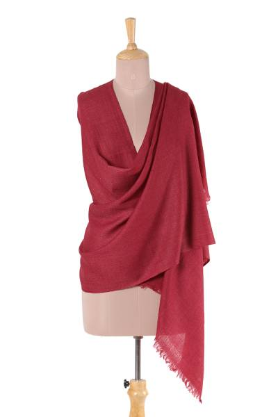 Wool shawl, Burgundy Mood