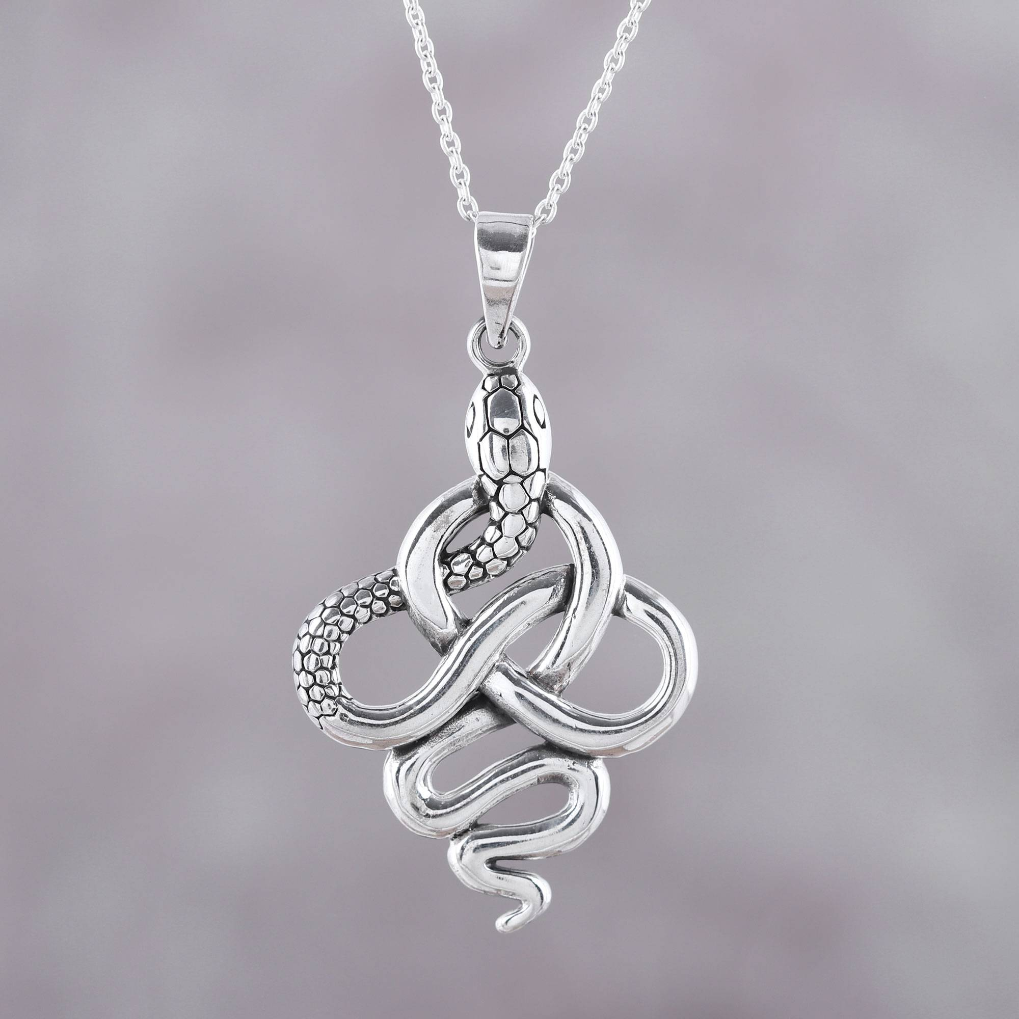 Details about  /Gold Snake pendant Necklace 925 Sterling Silver