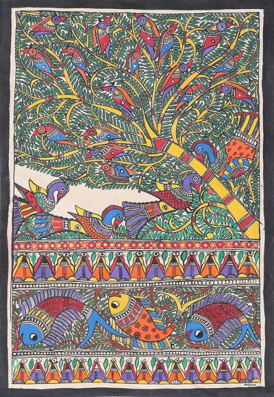 Most Beautiful Simple Easy Madhubani Paintings Peacock