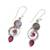 Labradorite and agate dangle earrings, 'Elegant Labyrinth' - Labradorite and Agate Dangle Earrings from India (image 2c) thumbail