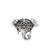 Sterling silver cocktail ring, 'Delighted Elephant' - Handcrafted Sterling Silver Smiling Elephant Cocktail Ring (image 2a) thumbail