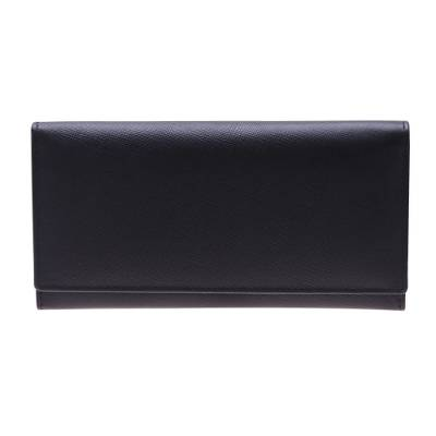 Leather wallet, 'Stylish Woman in Black' - Handmade Leather Wallet in Black from India