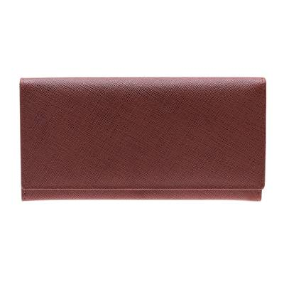 Handmade Leather Wallet in Rosewood from India