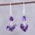 Amethyst dangle earrings, 'Dances in Purple' - Handcrafted 925 Sterling Silver and Amethyst Dangle Earrings (image 2) thumbail