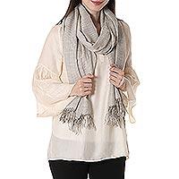 Cashmere blend shawl,