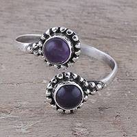 Amethyst toe ring, 'Rawingarh Radiance' - Amethyst Toe Ring Crafted in India