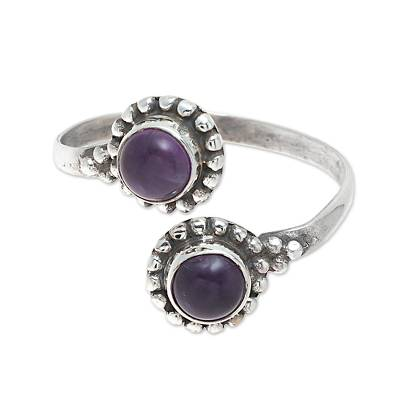 Amethyst Toe Ring Crafted in India