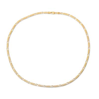 Gold plated sterling silver chain necklace, 'Shimmering Flair' (3 mm) - 22k Gold Plated Sterling Silver Chain Necklace (3 mm)
