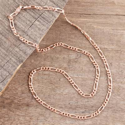 06b47fd76 Rose gold plated sterling silver chain necklace, Shimmering Flair (3 mm)