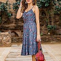 Cotton sundress, 'Garden Bliss'
