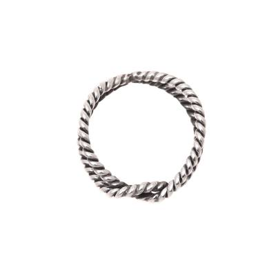 Rope Motif Sterling Silver Band Ring from India