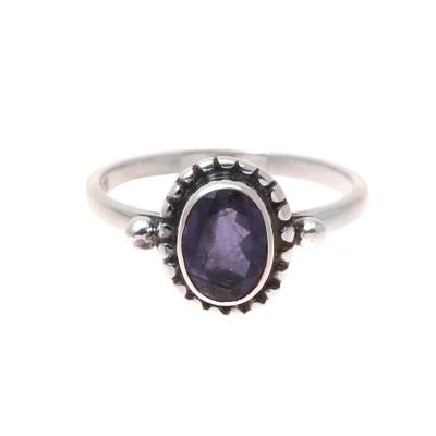 Iolite Cocktail Ring Crafted in India