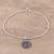 Sterling silver chain bracelet, 'Om of Peace' - Sterling Silver Om Bracelet Crafted in India (image 2b) thumbail