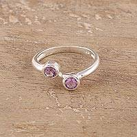 Amethyst band ring, 'Duality'