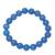 Chalcedony beaded stretch bracelet, 'Lustrous Orbs' - Blue Chalcedony Beaded Stretch Bracelet from India thumbail