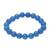 Chalcedony beaded stretch bracelet, 'Lustrous Orbs' - Blue Chalcedony Beaded Stretch Bracelet from India (image 2c) thumbail