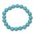 Reconstituted turquoise beaded stretch bracelet, 'Lustrous Sky' - Reconstituted Turquoise Beaded Stretch Bracelet from India (image 2a) thumbail