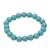 Reconstituted turquoise beaded stretch bracelet, 'Lustrous Sky' - Reconstituted Turquoise Beaded Stretch Bracelet from India (image 2c) thumbail