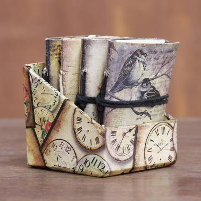 Paper journals, Birds of Time (set of 4)