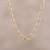 Gold plated sterling silver chain necklace, 'Classic Gold' - 22k Gold Plated Sterling Silver Chain Necklace from India (image 2) thumbail