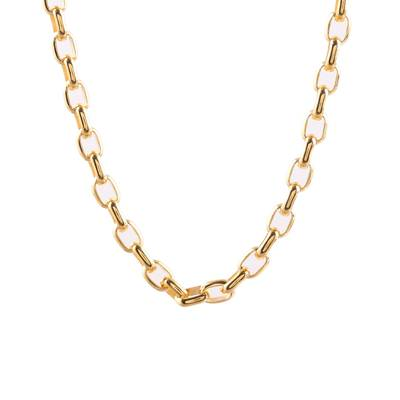 Gold plated sterling silver chain necklace, 'Classic Gold' - 22k Gold Plated Sterling Silver Chain Necklace from India