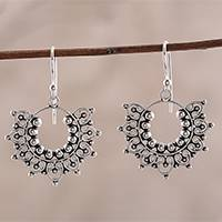 Sterling silver dangle earrings, 'Glorious Design'