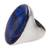 Men's lapis lazuli ring, 'Domed Royalty' - Men's Lapis Lazuli Ring Crafted in India thumbail