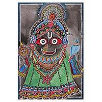 'Lord Jagannath' - Signed Watercolor Painting of Lord Jagannath from India