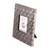 Aluminum photo frame, 'Silver Squares' (3x3) - Square Pattern Aluminum Photo Frame from India (3x3) (image 2b) thumbail