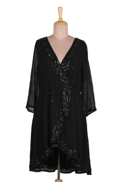 Embellished Viscose Dress from India