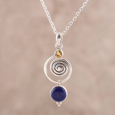 Peridot Natural  Gemstone Pendant For Friend Wedding Gift Gemstone Handmade Ethnic 925 Sterling Silver Pendant 5 CM Exclusive Lapis Lazuli