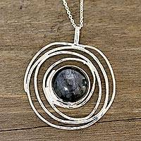 Labradorite pendant necklace, 'Galaxy Beauty' - Modern Labradorite Pendant Necklace from India