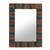 Mango wood wall mirror, 'Colorful Stripes' - Colorful Striped Mango Wood Wall Mirror from India (image 2a) thumbail