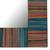 Mango wood wall mirror, 'Colorful Stripes' - Colorful Striped Mango Wood Wall Mirror from India (image 2b) thumbail