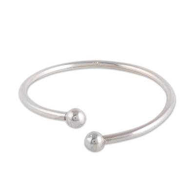 Simple Sterling Silver Cuff Bracelet from India