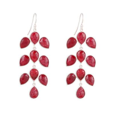40-Carat Ruby Dangle Earrings from India