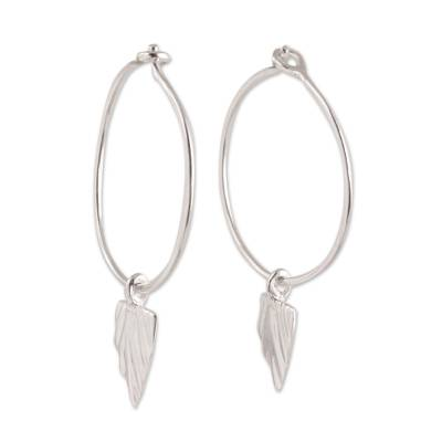 Modern Sterling Silver Dangle Earrings from India