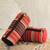Cotton cosmetic bags, 'Striped Desire' (pair) - Multicolored Striped Cotton Cosmetic Bags from India (Pair) thumbail