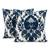 Cotton cushion covers, 'Midnight Glory' (pair) - Midnight and Alabaster Cotton Cushion Covers (Pair) (image 2a) thumbail