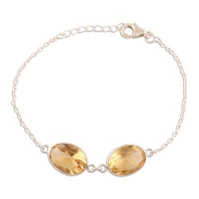 12-Carat Citrine Pendant Bracelet from India
