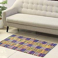 Recycled cotton area rug, 'Rajasthan Allure' (2x4.5) - Colorful Recycled Cotton Area Rug from India (2x4.5)