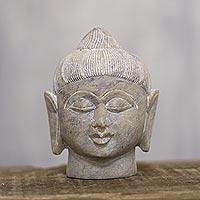 Soapstone sculpture, 'Calming Buddha'