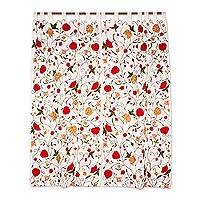 Embroidered cotton curtains, 'Floral Sunlight' (pair) - Aari Floral Embroidered Cotton Curtains from India (Pair)
