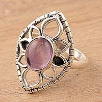 Amethyst cocktail ring, 'Charismatic Petals'