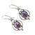 Sterling silver and gemstone dangle earrings, 'Regal Joy' - Sterling Silver and Purple Gemstone Earrings (image 2c) thumbail
