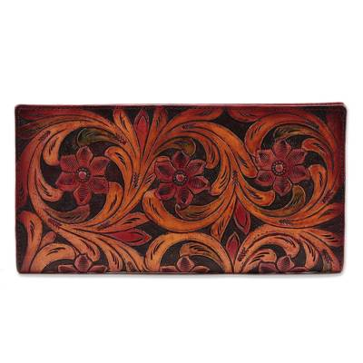 Artisan Crafted Patterned Leather Wallet from India