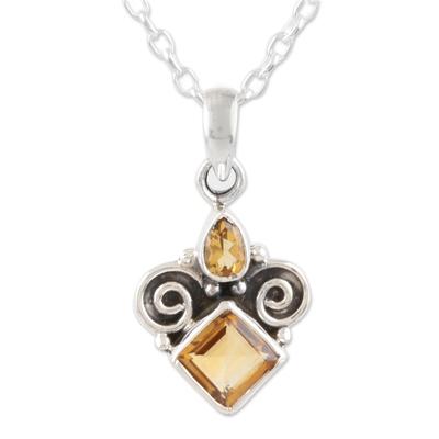 Citrine Birthstone Pendant Necklace