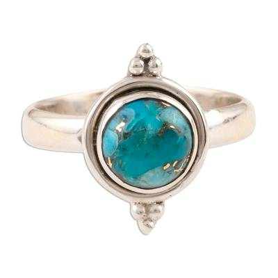 Composite Turquoise Single Stone Ring