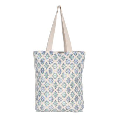 100% Cotton Canvas Diamond Pattern Shoulder Bag